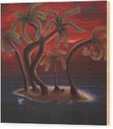 Dance Of The Coconut Palms Wood Print