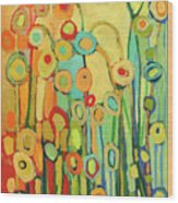 Dance Of The Flower Pods Wood Print by Jennifer Lommers