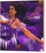 Dance Of The Purple Veil Wood Print