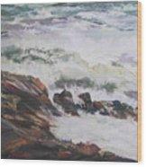Dance Of The Rising Tide Wood Print