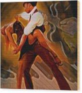 Dance Scene Xv Wood Print