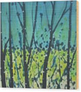 Dance Shadow Wood Print