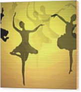 Dance With Us Into The Light Wood Print