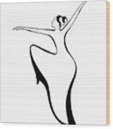 Dancer 2 Wood Print
