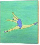 Soaring Dancer By Ken Tesoriere Wood Print