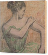 Dancer Wood Print by Degas