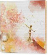 Dancer On Water 2 Wood Print