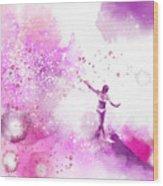Dancer On Water 4 Wood Print