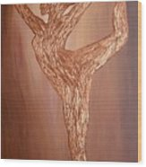 Dancer Silhouette Wood Print