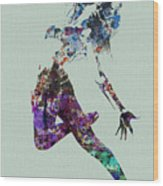 Dancer Watercolor Wood Print