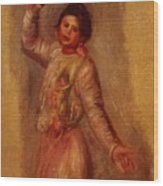 Dancer With Castenets 1895 Wood Print