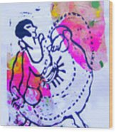 Dancer With Cord Wood Print
