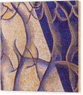 Dancers - Study 12 Wood Print