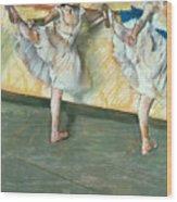 Dancers At The Bar Wood Print