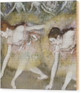 Dancers Bending Down Wood Print