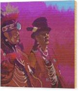 Dancers In Red Wood Print