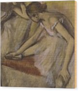 Dancers In Repose Wood Print by Edgar Degas