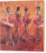 Dancers In The Flame Wood Print