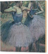 Dancers In Violet  Wood Print