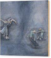 Dancers Wood Print by Michelle Iglesias