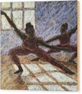 Dancers Near A Window Wood Print