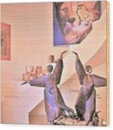 Dancers On El Paseo Wood Print