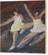 Dancers  One Wood Print