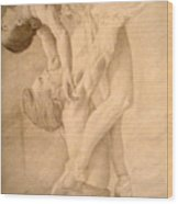 Dancers Wood Print by Sarabeth Kett
