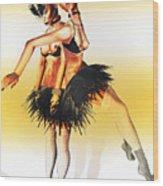Dancers Wood Print by Theda Tammas
