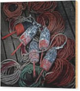Dances With Lobsters Wood Print