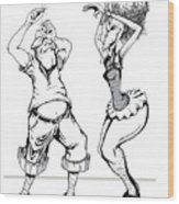 Dancin Fools Wood Print