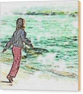 Dancin' With The Sunrise Wood Print