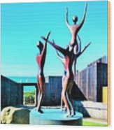 Dancing At Sea Ranch Wood Print