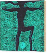 Dancing At The Creation Of The Green Earth Wood Print