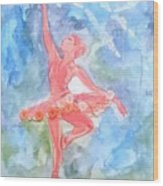 Dancing Ballerina Wood Print