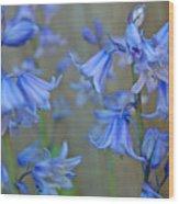 Dancing Bluebells Wood Print