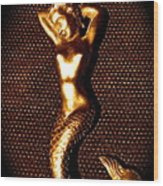Dancing Bronze Mermaid Wood Print