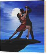 Dancing By Moonlight Wood Print