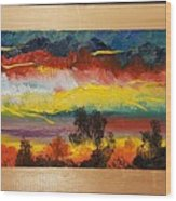Dancing Colors     102 Wood Print