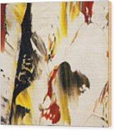 Dancing Colors Wood Print