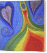 Dancing Earth Goddess Wood Print