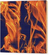 Dancing Fire I Wood Print