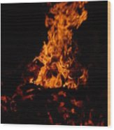 Dancing Fire Wood Print