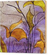 Dancing Flora Wood Print