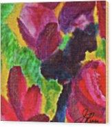 Dancing Flowers Wood Print