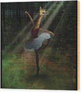 Dancing Giraffe Wood Print