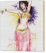 Dancing Girl Wood Print