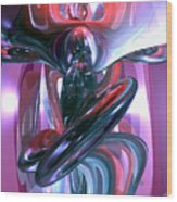 Dancing Hallucination Abstract Wood Print