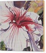 Dancing Hibiscus Wood Print