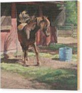 Dancing Horse Wood Print